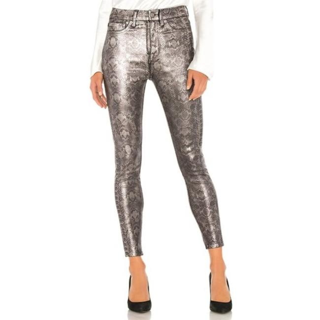Item - Silver Gray High Waist Skinny Jeans Size 27 (4, S)