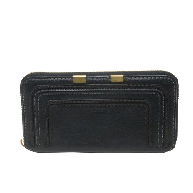 Item - Black Long Marcie Pebbled Leather Zippy Wallet