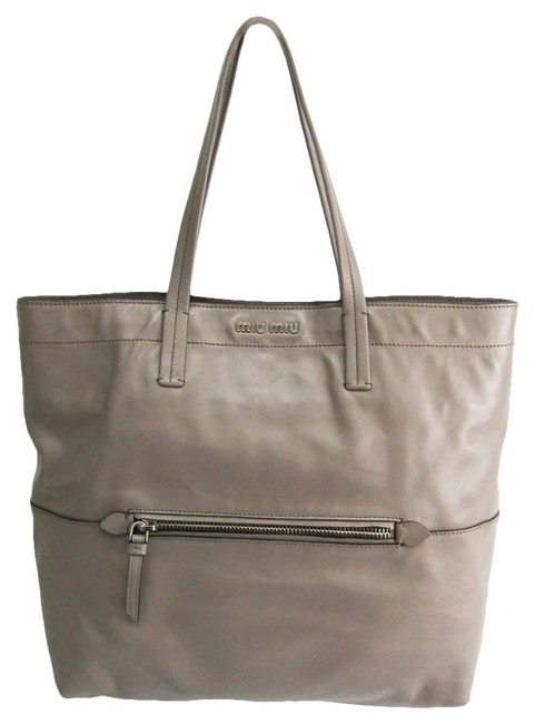 Item - Bag Women's Gray Leather Tote