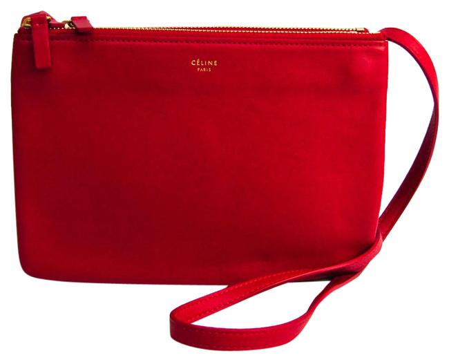Item - Trio Small 165113 Women's Red Color Leather Shoulder Bag
