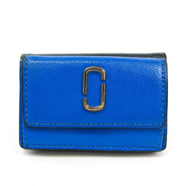 Item - Blue / Dark Gray / Gray Snapshot Mini Trifold M0013597 Women's Embossed Leather (Tri-fold) Wallet