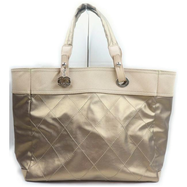 Item - Bag Biarritz Quilted 862234 Gold Nylon Tote