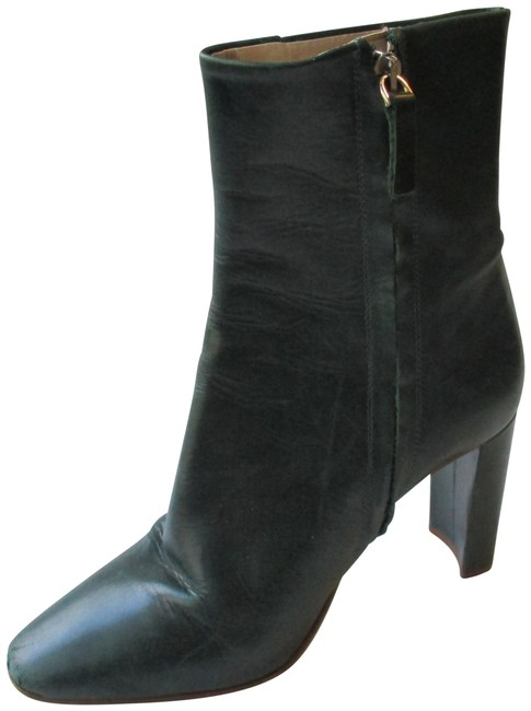 Item - Green Zip Up Basic Collection Hunter Ankle Boots/Booties Size EU 36 (Approx. US 6) Regular (M, B)