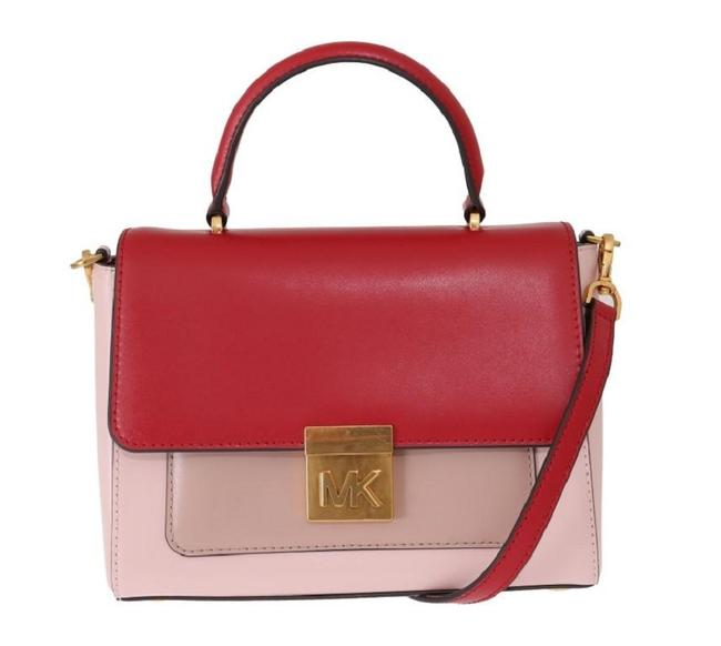 Item - Mindy Satchel Blossom (Red/Pink) Leather Cross Body Bag