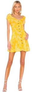 Free People short dress Yellow on Tradesy