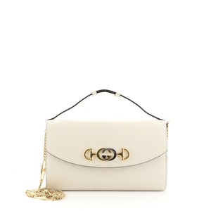 Item - Zumi Small White Leather Shoulder Bag