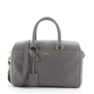 Item - Duffle Bag Classic 12 Gray Leather Tote