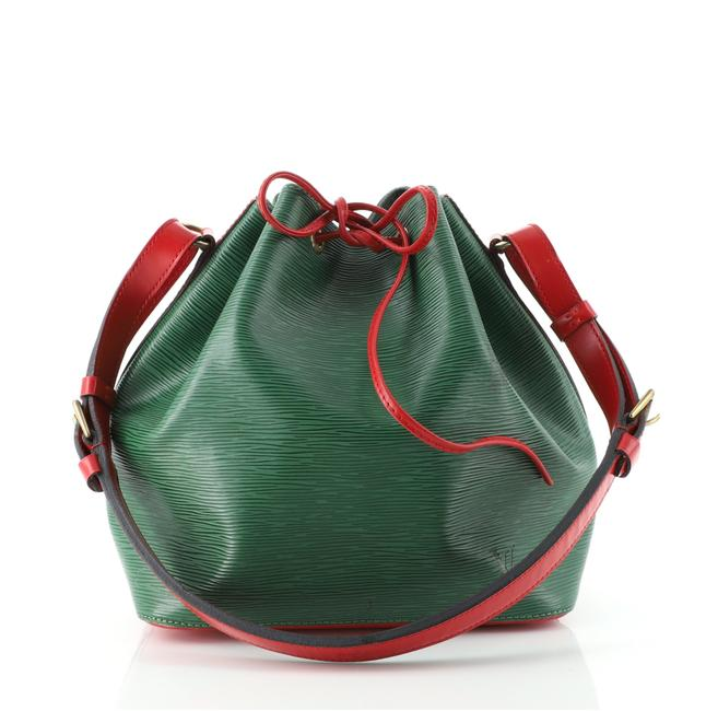 Item - Bicolor Petit Noe Handbag Green Red Leather Shoulder Bag