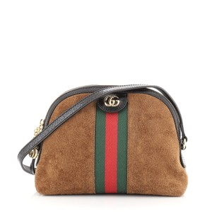 Item - Dome Ophidia Small Brown Suede Shoulder Bag