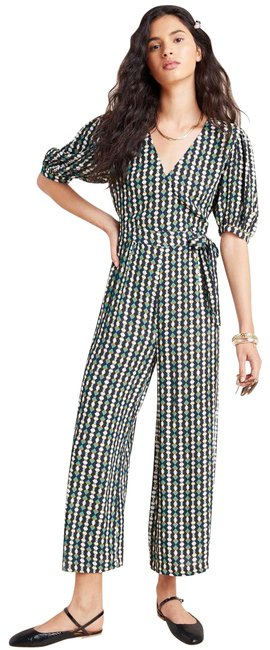 Item - Black New Evie Abstract Kachel Romper/Jumpsuit