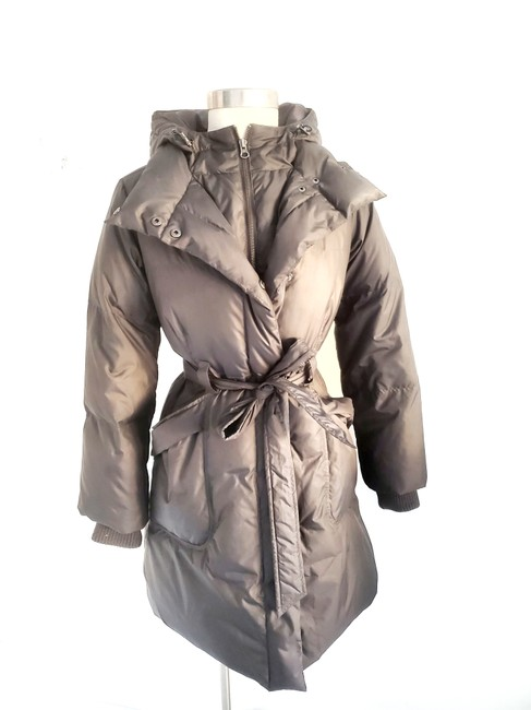 Item - Brown Hooded & Belted / Jacket Coat Size 6 (S)