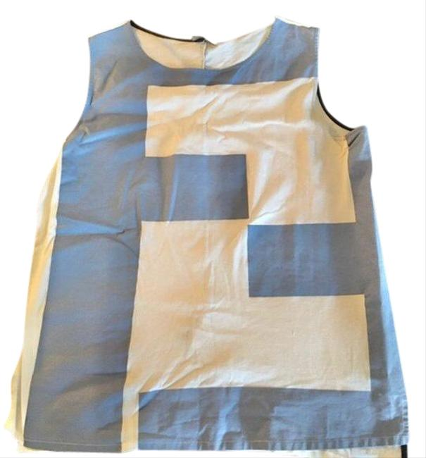 Item - White and Blue Roma Blouse Size 10 (M)