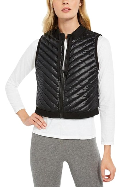 Item - Black Performance Women's Cropped Quilted Activewear Outerwear Size 12 (L)