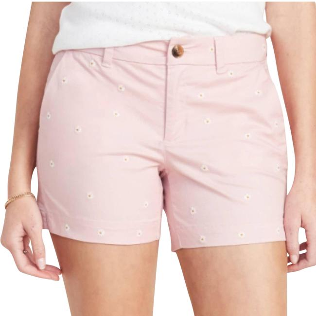 Item - Pink Everyday Embroidered Daisies Shorts Size 14 (L, 34)