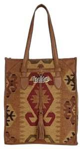 Isabella Fiore Tote in tan brown red black