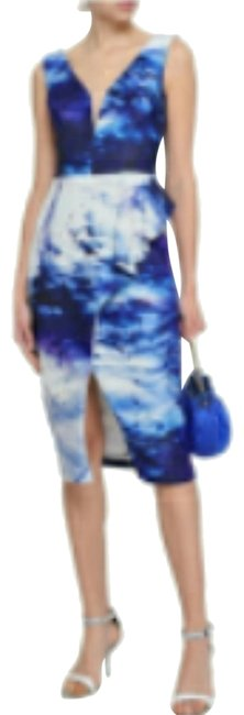 Item - Jersey Printed Stretch- Mid-length Formal Dress Size 6 (S)