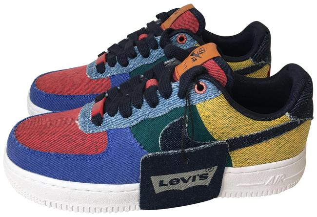 Item - Blue Red Yellow Green Levi's X Air Force 1 'by You' Low Denim Sneakers Size US 7 Regular (M, B)