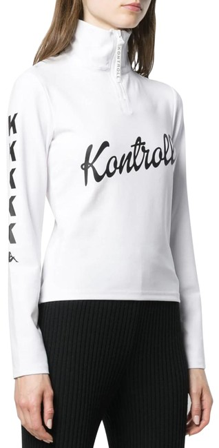 Item - White Kontroll Back Cutout Sweatshirt Activewear Top Size 8 (M)