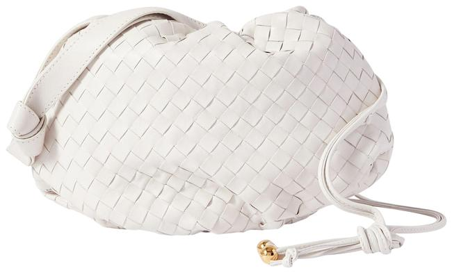 Item - Shoulder Bag The Small Bulb Gathered Intrecciato White Leather Wristlet