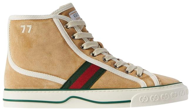 Item - Beige Tennis 1977 Shearling-lined Suede and Canvas High-top Sneakers Size EU 35.5 (Approx. US 5.5) Regular (M, B)