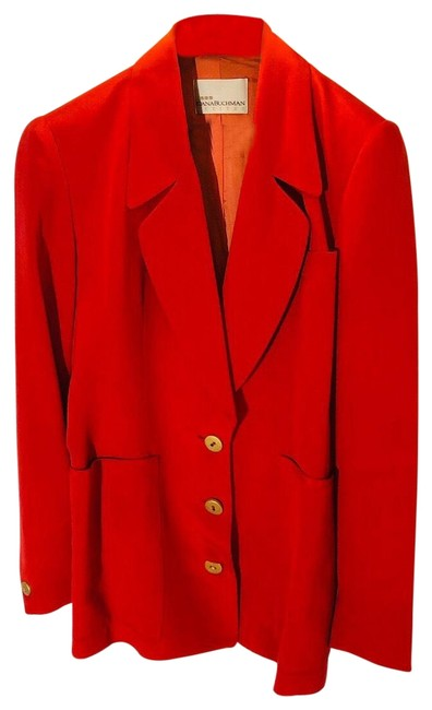 Item - Red / Orange Blazer Size 4 (S)