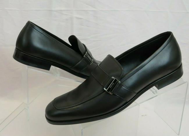 Item - Black 2dc219 Leather Logo Almond Toe Classic Penny Loafers 7 / Us 8 It Shoes