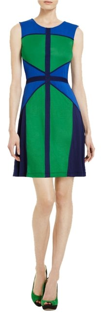 Preload https://item3.tradesy.com/images/bcbgmaxazria-blue-and-green-knee-length-short-casual-dress-size-6-s-2836027-0-0.jpg?width=400&height=650