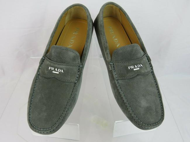 Item - Gray 2dd165 Suede Logo Driving Moccasins Penny Loafers 7 / Us 8 Italy Shoes