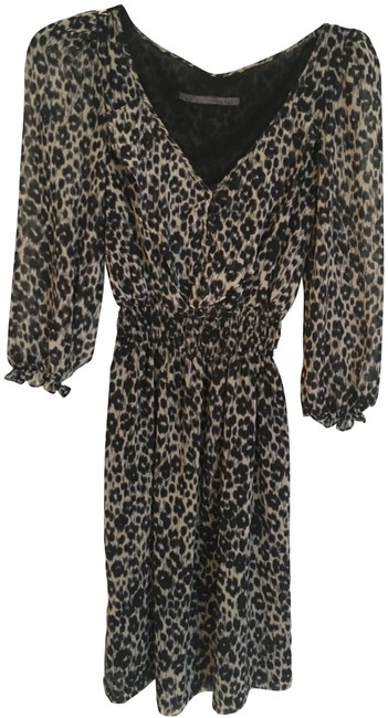 Item - Navy & Cream Leopard Print Short Night Out Dress Size 2 (XS)