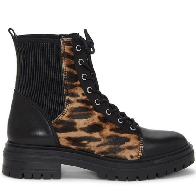 Item - Black Brown Leather Calf Hair Stretch Bestendo3 Combat Boots/Booties Size US 6 Regular (M, B)