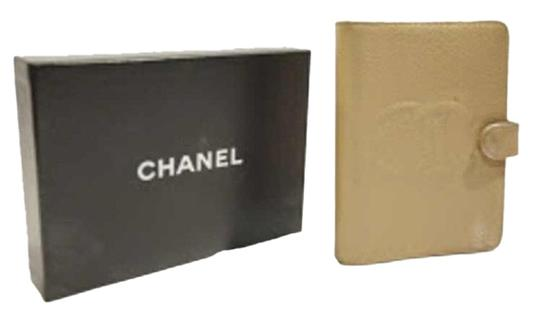 Chanel authentic CHANEL caviar leather DAILY PLANNER diary cover w/orig BOX