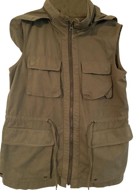 Item - Olive Chino Twill Military Vest Size 2 (XS)