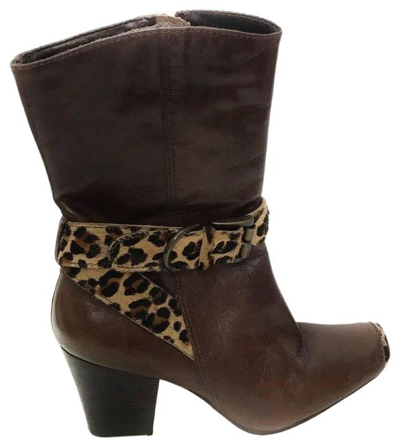 Item - Brown Anthropologie Katherine with Leopard Trim Boots/Booties Size US 7 Regular (M, B)