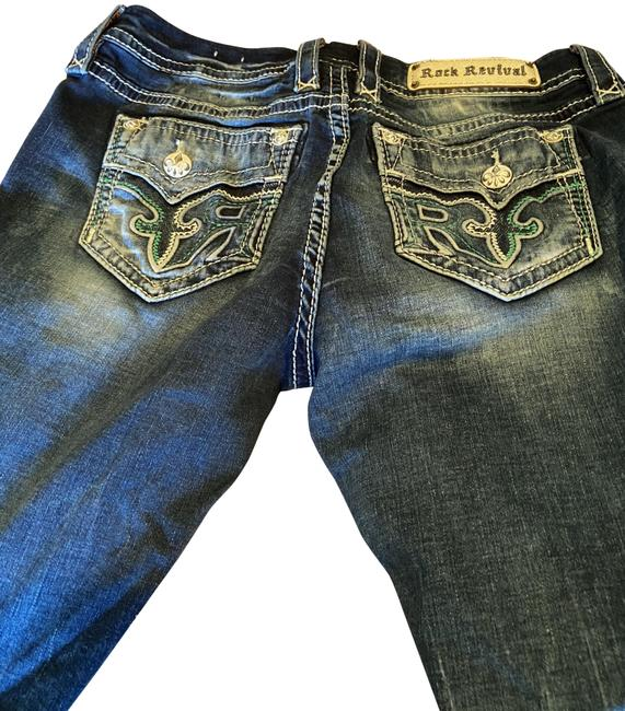 Item - Blue Dark Rinse Sundee Easy Boot Cut Jeans Size 28 (4, S)