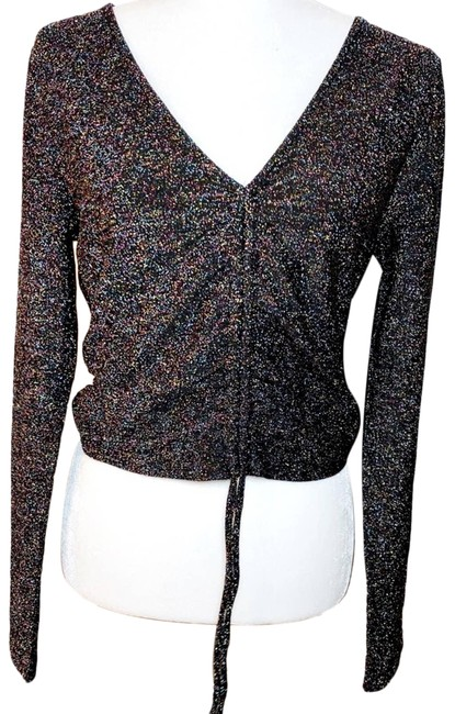 Item - Contemporary Glitter Crop Blouse Size 16 (XL, Plus 0x)