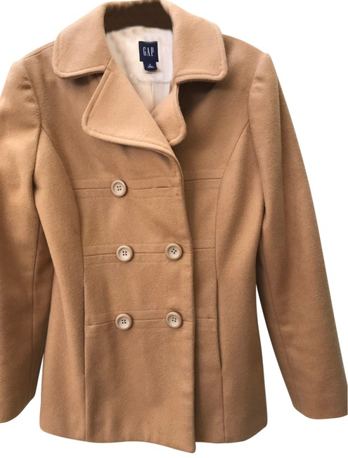 Item - Camel Classic Double Breasted Coat Size 4 (S)