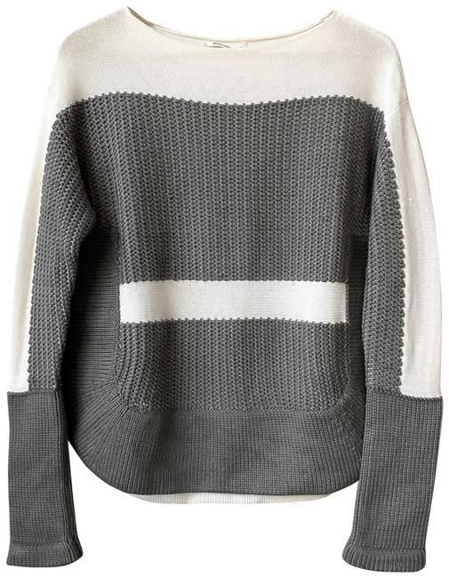 Item - Texture Smooth/Chunky Grey and White Sweater
