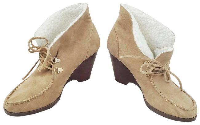 Item - Brown Suede Sherpa Wedge New Boots/Booties Size US 9.5 Regular (M, B)