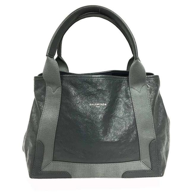 Item - Bag Hippo S 542017 Lambskin Leather Gray Cotton Tote