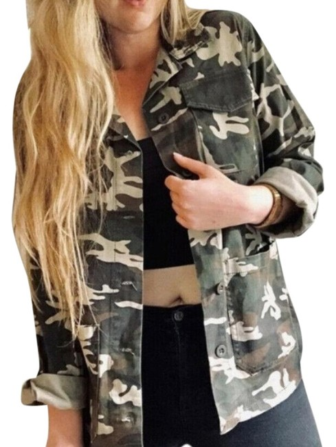 Item - Multicolor Sanctuary Camouflage 4 Utility Jacket Size 8 (M)