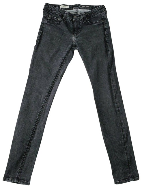 AG Adriano Goldschmied Black Faded Skinny Jeans Size 28 (4, S) AG Adriano Goldschmied Black Faded Skinny Jeans Size 28 (4, S) Image 1