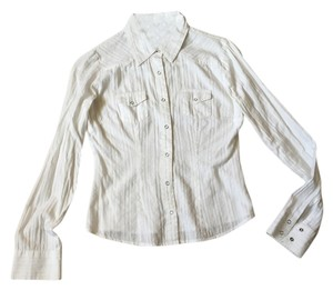 Refuge Jeans Button Down Shirt White