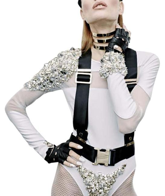 Item - Black Limited Edition Statement Buckle Harness Belt