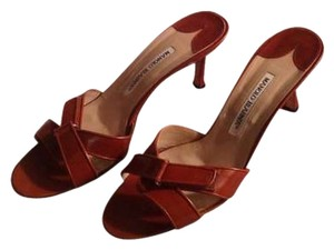 Manolo Blahnik Chestnut Sandals