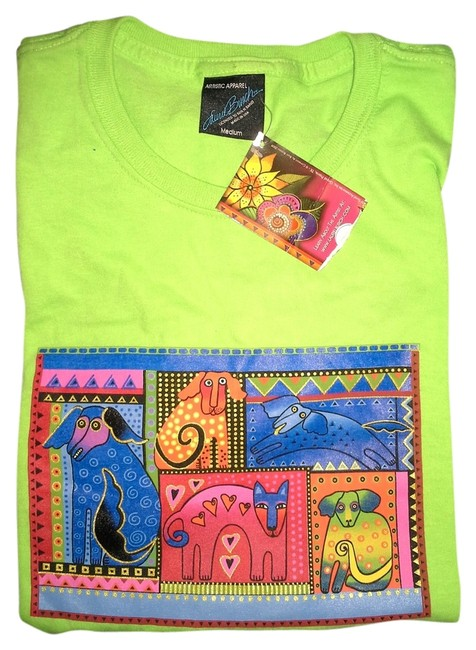 Item - Lime Dogs Tee Shirt Size 8 (M)