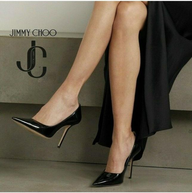 Item - Black Romy 100mm Classic Pointed Patent Leather Pumps Size US 7 Regular (M, B)