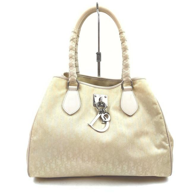 Item - Monogram Trotter Braided 862249 Beige Canvas Tote