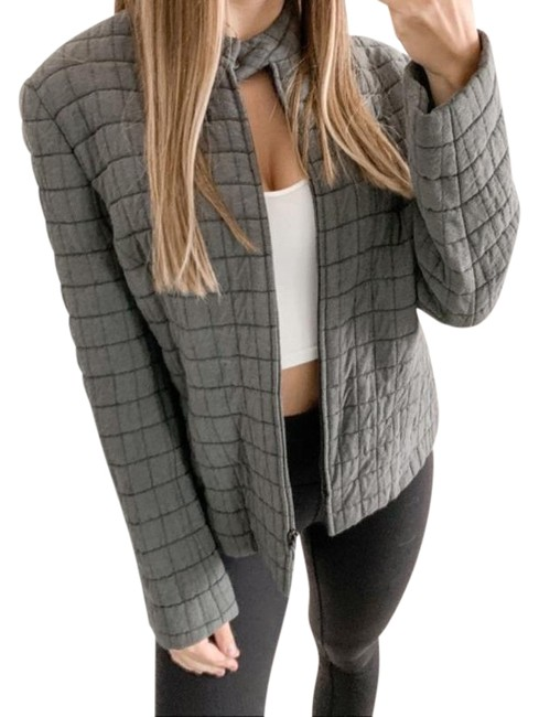 Item - Gray Zip Up Quilted In Jacket Size 8 (M)
