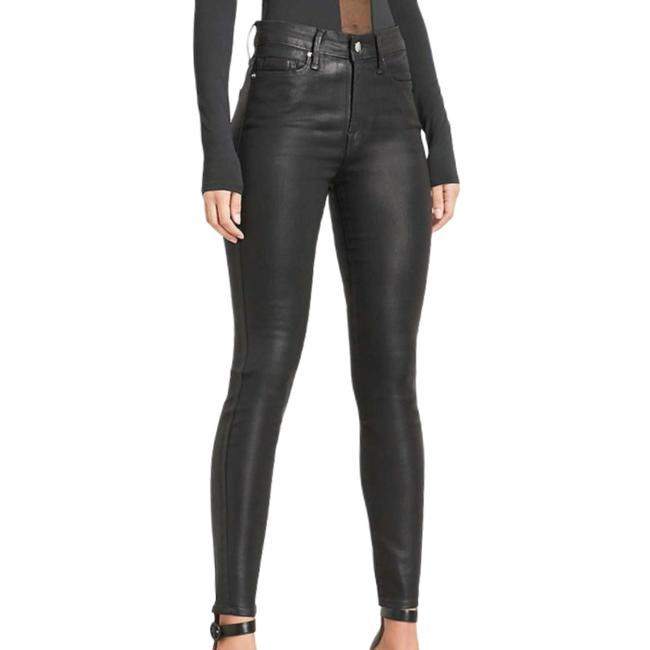 Item - Black Coated Faux Leather Skinny Jeans Size 26 (2, XS)