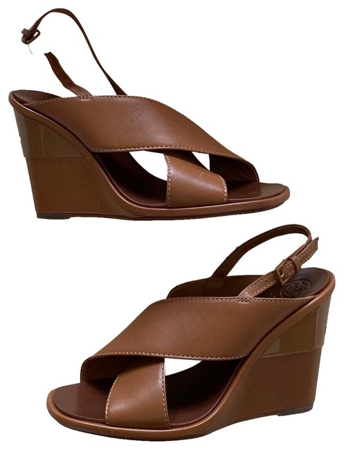 Item - Brown Tan Strappy Leather Wedges Size US 8 Regular (M, B)